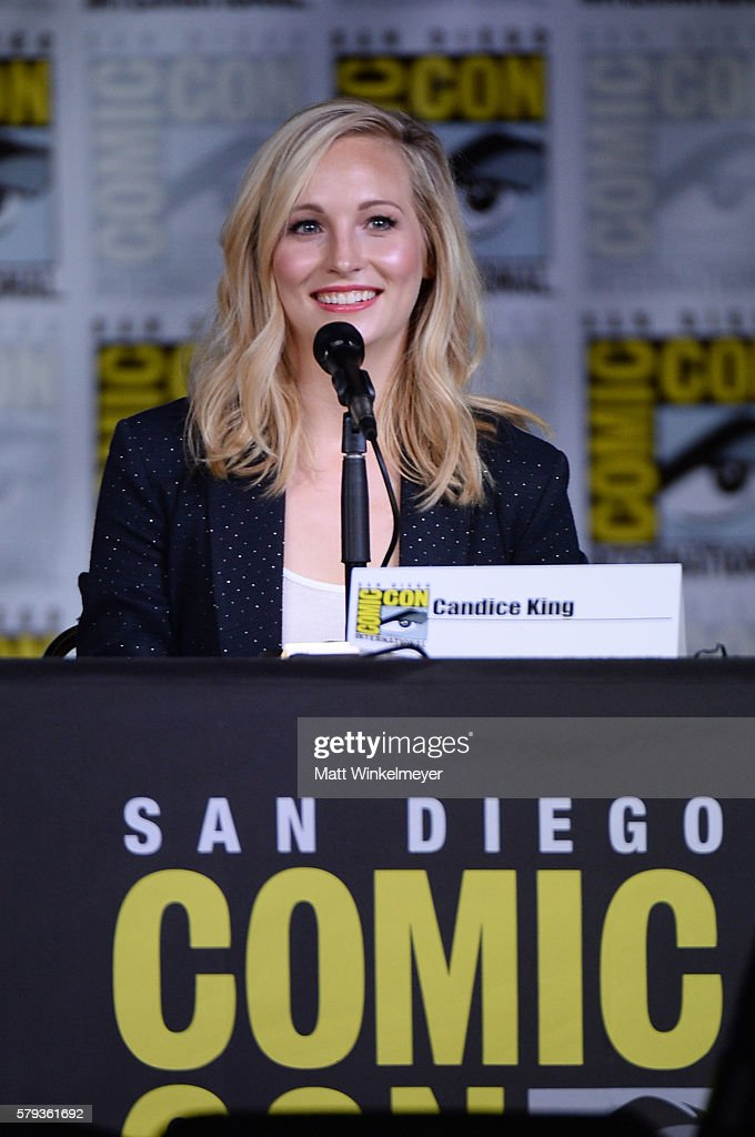 Actress Candice King attends the 'The Vampire Diaries' panel during ComicCon International 2016 at San Diego Convention Center on July 23 2016 in San...