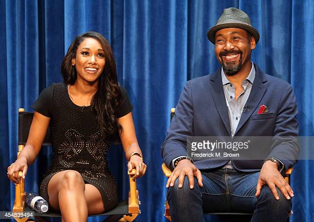 Actress Candice Patton and actor Jesse L Matin attend The Paley Center for Media's PaleyFest 2014 Fall TV Previews The CW at The Paley Center for...