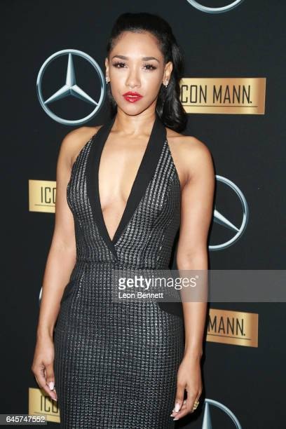 Actress Candice Patton arrives at the MercedesBenz x ICON MANN 2017 Academy Awards Viewing Party at Four Seasons Hotel Los Angeles at Beverly Hills...