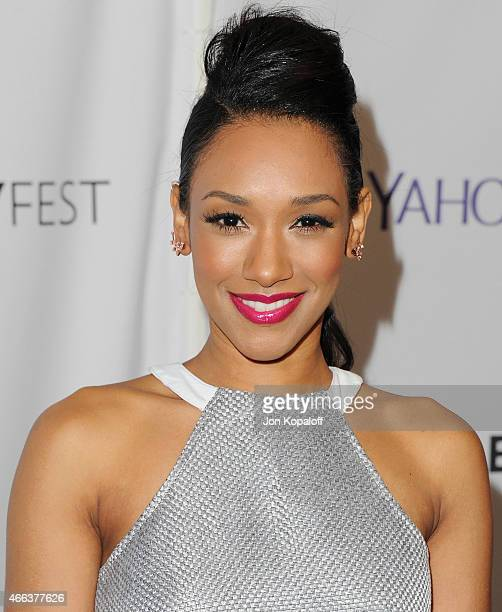 Actress Candice Patton arrives at The Paley Center For Media's 32nd Annual PALEYFEST LA 'Arrow' And 'The Flash' at Dolby Theatre on March 14 2015 in...