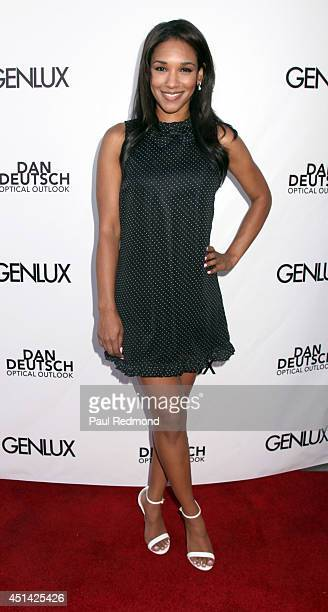 Actress Candice Patton attending the Genlux Katie Cassidy Cover party on June 28 2014 in Los Angeles California