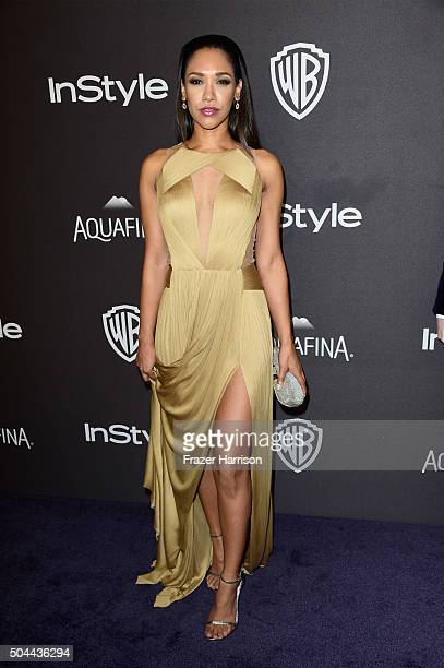 Actress Candice Patton attends InStyle and Warner Bros 73rd Annual Golden Globe Awards PostParty at The Beverly Hilton Hotel on January 10 2016 in...