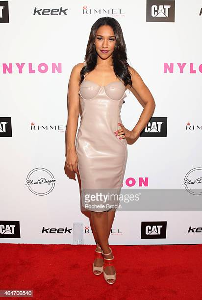 Actress Candice Patton attends NYLON Magazine's Spring Fashion Issue Celebration hosted by Rita Ora at Blind Dragon on February 27 2015 in West...