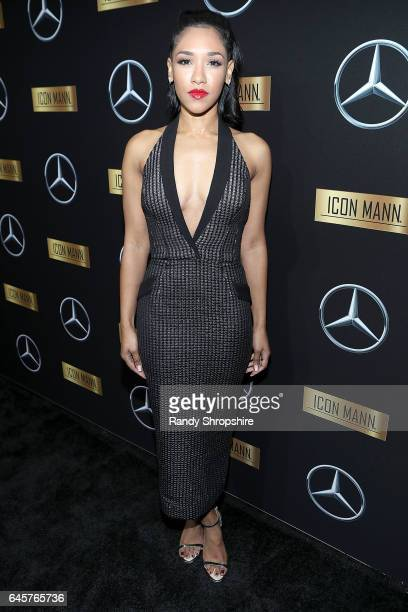 Actress Candice Patton attends the Annual MercedesBenz ICON MANN 2017 Awards viewing party at Four Seasons Hotel Los Angeles at Beverly Hills on...