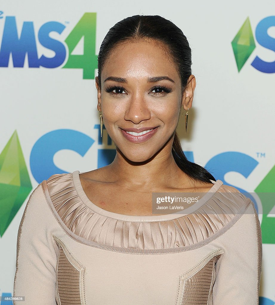 Actress Candice Patton poses in the green room at the 2015 Teen Choice Awards at Galen Center on August 16, 2015 in Los Angeles, California.