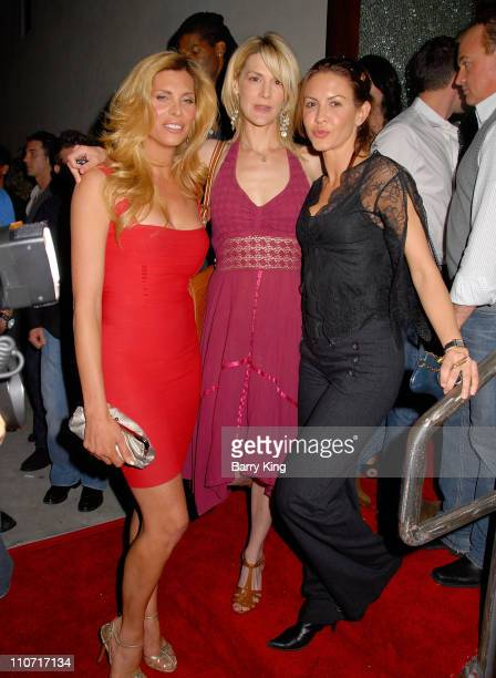 Actress Candis Cayne actress Thea Gill and actress Michelle Clunie attend the Marks Restaurant 20th Anniversary Party held at Marks on March 26 2008...