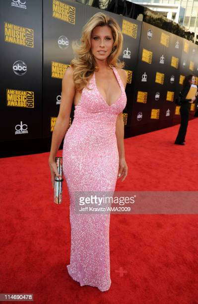Actress Candis Cayne arrives at the 2009 American Music Awards at Nokia Theatre LA Live on November 22 2009 in Los Angeles California