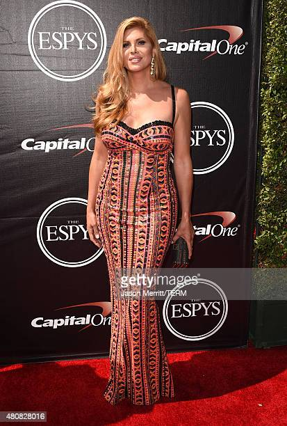 Actress Candis Cayne attends The 2015 ESPYS at Microsoft Theater on July 15 2015 in Los Angeles California