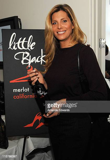 Actress Candis Cayne poses at Little Black Dress Wines at Kari Feinstein Golden Globes Style Lounge held at Zune LA on January 8 2009 in Los Angeles...