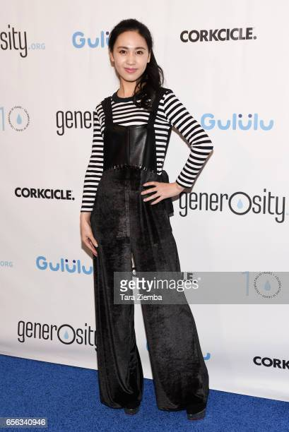 Actress Candy Wang attends a Generosityorg fundraiser for World Water Day at Montage Hotel on March 21 2017 in Beverly Hills California