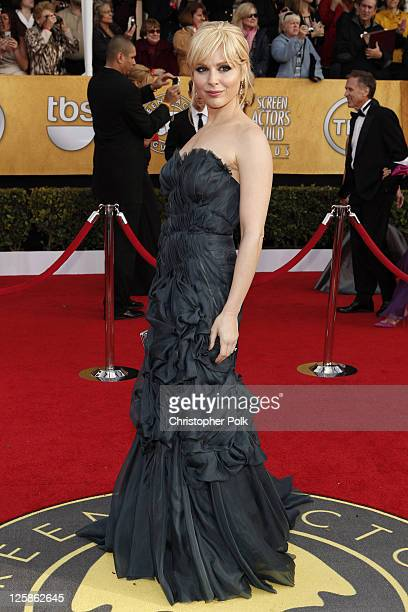 Actress Cara Buono arrives at the TNT/TBS broadcast of the 17th Annual Screen Actors Guild Awards held at The Shrine Auditorium on January 30 2011 in...