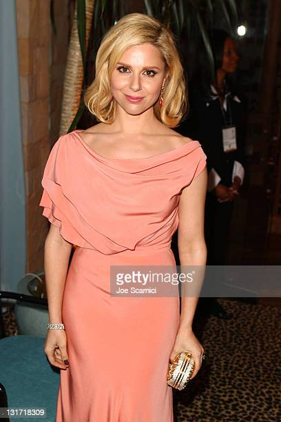 Actress Cara Buono attends AMC's 2011 Golden Globe Awards viewing and after party held at The Beverly Hilton hotel on January 16 2011 in Los Angeles...