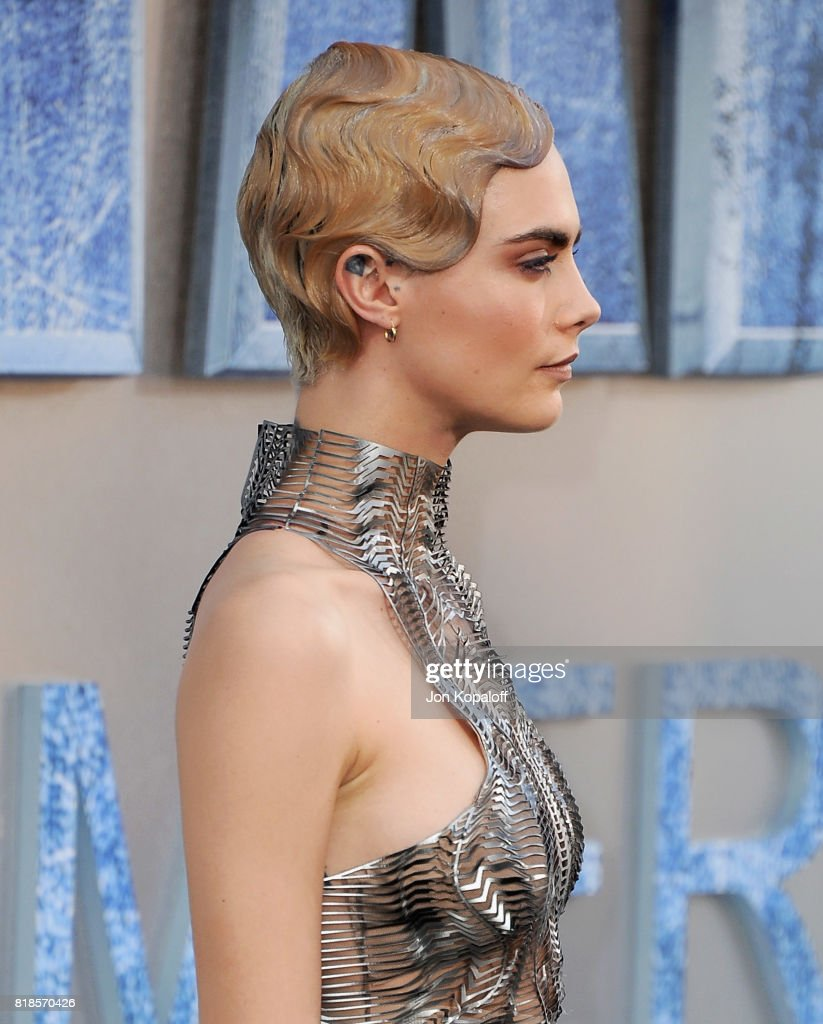 Actress Cara Delevingne arrives at the Los Angeles Premiere 'Valerian And The City Of A Thousand Planets' at TCL Chinese Theatre on July 17, 2017 in Hollywood, California.