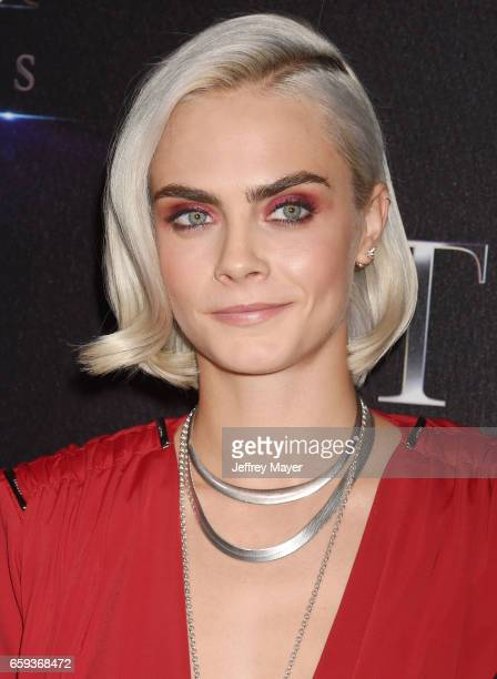 Actress Cara Delevingne at CinemaCon 2017 The State of the Industry Past Present and Future and STX Films Presentation at The Colosseum at Caesars...
