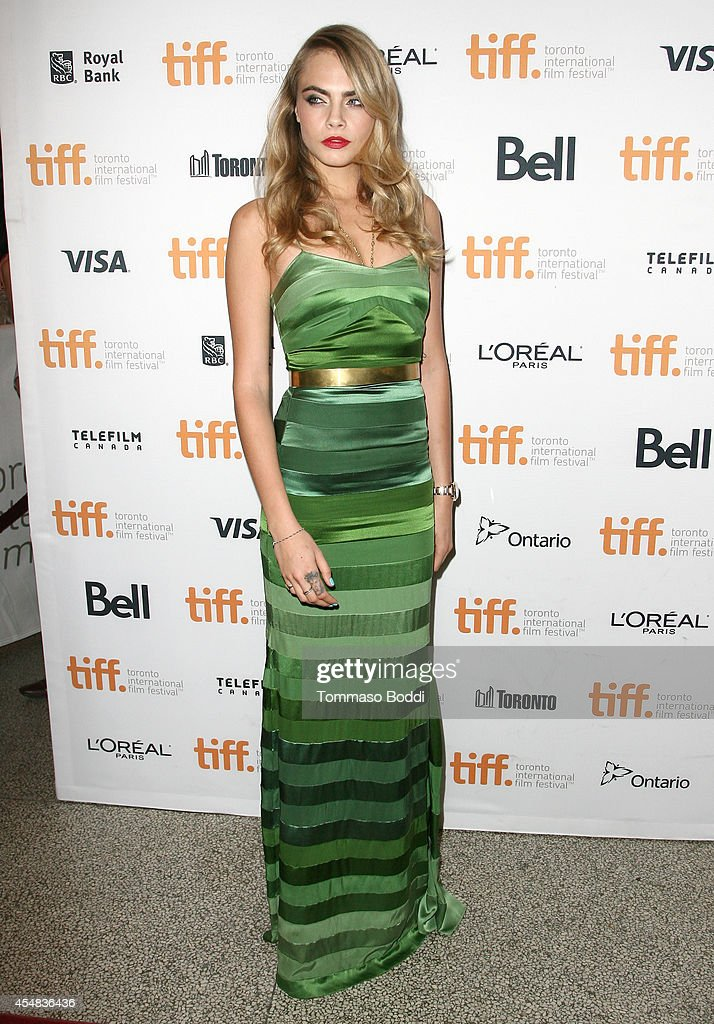 Actress Cara Delevingne attends 'The Face Of An Angel' premiere during the 2014 Toronto International Film Festival at Winter Garden Theatre on...
