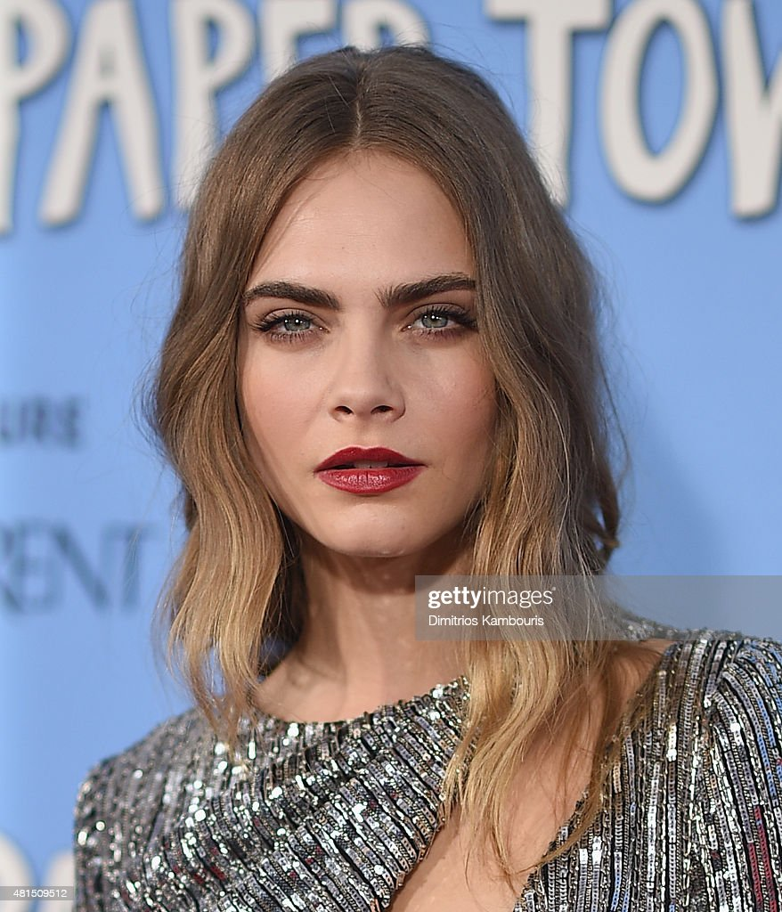 Actress <a gi-track='captionPersonalityLinkClicked' href=/galleries/search?phrase=Cara+Delevingne&family=editorial&specificpeople=5488432 ng-click='$event.stopPropagation()'>Cara Delevingne</a> attends the 'Paper Towns' New York Premiere at AMC Loews Lincoln Square on July 21, 2015 in New York City.