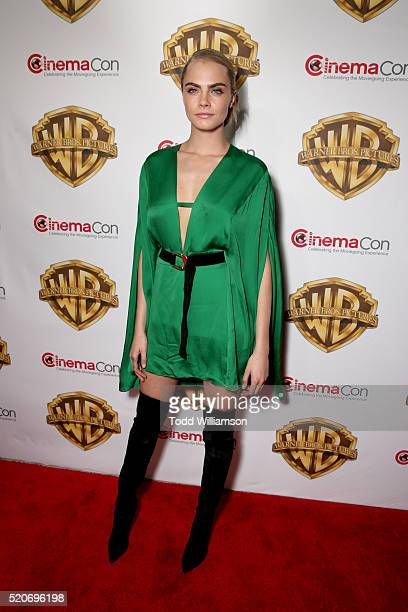 """Actress Cara Delevingne of 'Suicide Squad' attends CinemaCon 2016 Warner Bros Pictures Invites You to """"The Big Picture"""" an Exclusive Presentation..."""