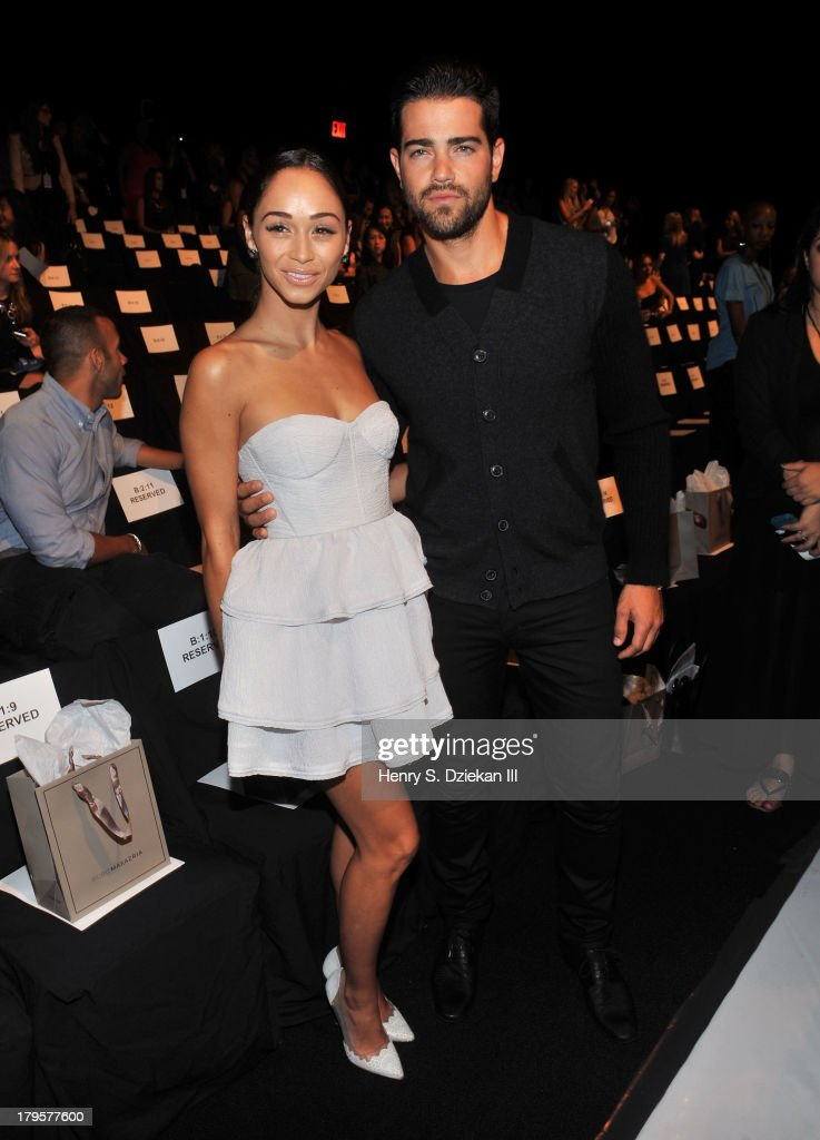 Actress Cara Santana and actor Jesse Metcalfe attend the BCBGMAXAZRIA show during Spring 2014 Mercedes-Benz Fashion Week at The Theatre at Lincoln Center on September 5, 2013 in New York City.