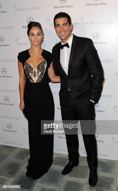 Actress Cara Santana and Jesse Metcalfe attend The Art Of Elysium's 7th Annual HEAVEN Gala Presented By MercedesBenz on January 11 2014 in Los...