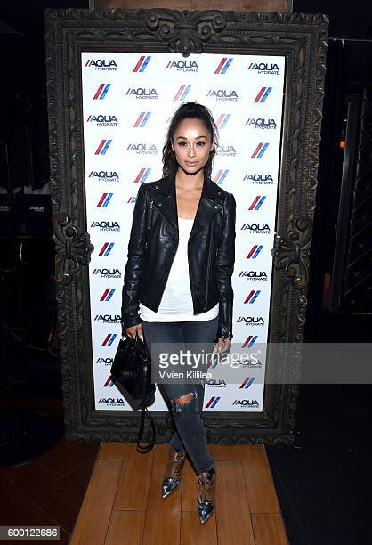 Actress Cara Santana attends a private event at Hyde Staples Center hosted by AQUAhydrate for the Drake and Future concert on September 7 2016 in Los...