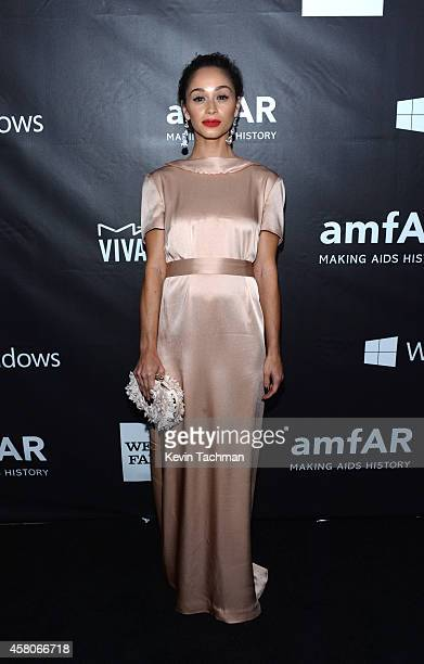 Actress Cara Santana attends amfAR LA Inspiration Gala honoring Tom Ford at Milk Studios on October 29 2014 in Hollywood California