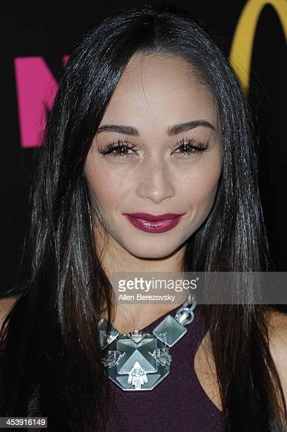Actress Cara Santana attends NYLON Magazine's December Issue Celebration featuring cover star Demi Lovato at Smashbox West Hollywood on December 5...