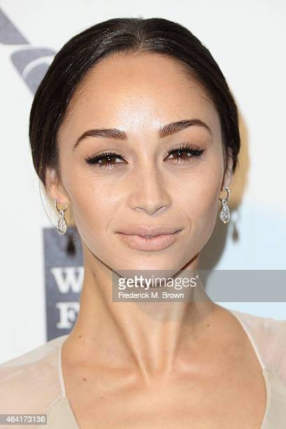 Actress Cara Santana attends the 23rd Annual Elton John AIDS Foundation's Oscar Viewing Party on February 22 2015 in West Hollywood California