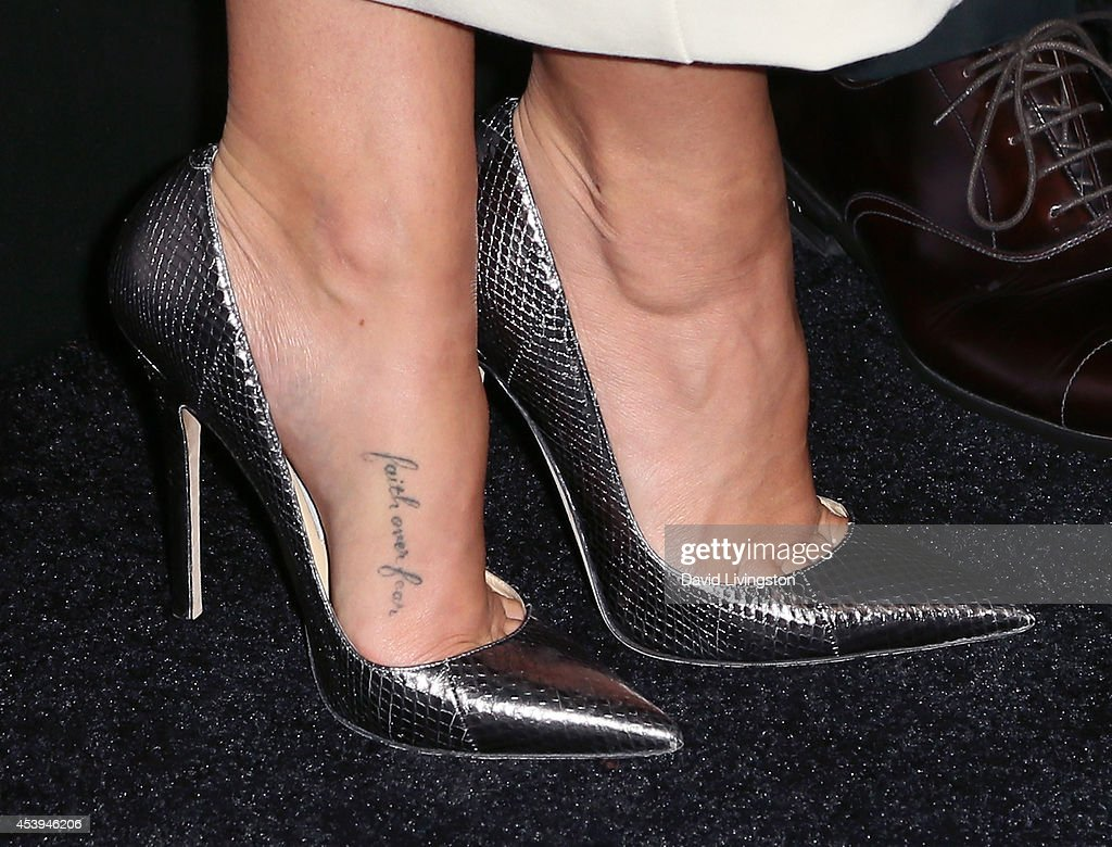 Actress Cara Santana (shoe detail) attends the Audi celebration of Emmys Week 2014 at Cecconi's Restaurant on August 21, 2014 in Los Angeles, California.