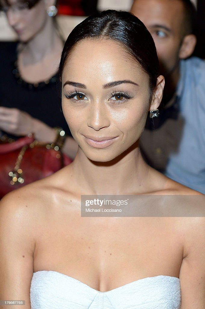 Actress <a gi-track='captionPersonalityLinkClicked' href=/galleries/search?phrase=Cara+Santana&family=editorial&specificpeople=4311902 ng-click='$event.stopPropagation()'>Cara Santana</a> attends the BCBGMAXAZRIA Spring 2014 fashion show during Mercedes-Benz Fashion Week at The Theatre at Lincoln Center on September 5, 2013 in New York City.