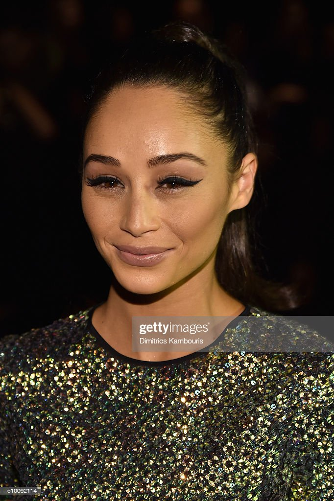 Actress <a gi-track='captionPersonalityLinkClicked' href=/galleries/search?phrase=Cara+Santana&family=editorial&specificpeople=4311902 ng-click='$event.stopPropagation()'>Cara Santana</a> attends the Monique Lhuillier Fall 2016 fashion show during New York Fashion Week: The Shows at The Arc, Skylight at Moynihan Station on February 13, 2016 in New York City.