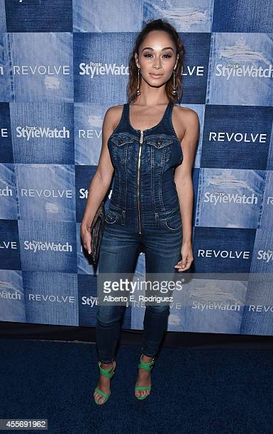 Actress Cara Santana attends the People StyleWatch Denim Event at The Line on September 18 2014 in Los Angeles California