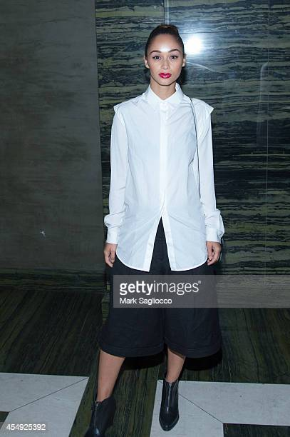 Actress Cara Santana attends the Public School Spring 2015 After Party at Gilded Lily on September 7 2014 in New York City
