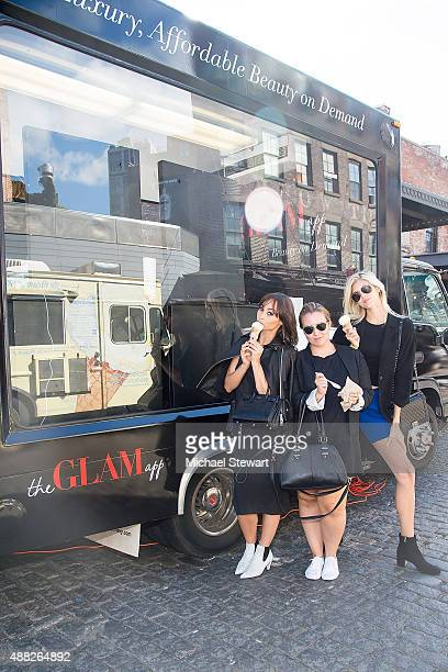 Actress Cara Santana Hannah Faust and model Devon Windsor are seen in the Meatpacking District on September 14 2015 in New York City