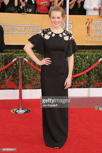 Actress Cara Theobold arrives at the 20th Annual Screen Actors Guild Awards at The Shrine Auditorium on January 18 2014 in Los Angeles California
