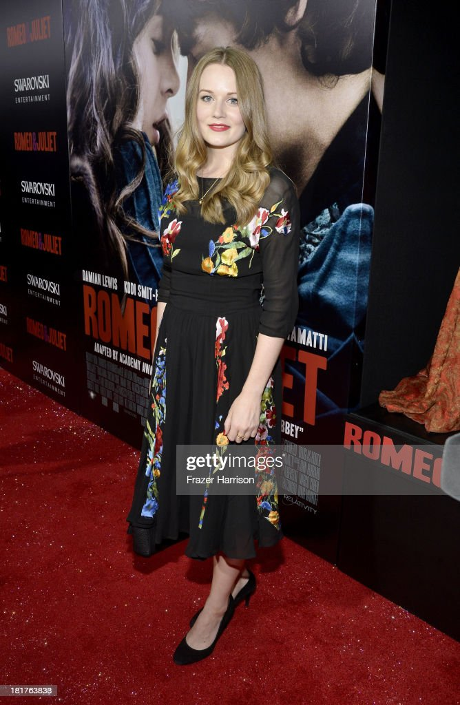 Actress Cara Theobold arrives at the premiere of Relativity Media's 'Romeo And Juliet' at ArcLight Cinemas on September 24, 2013 in Hollywood, California.