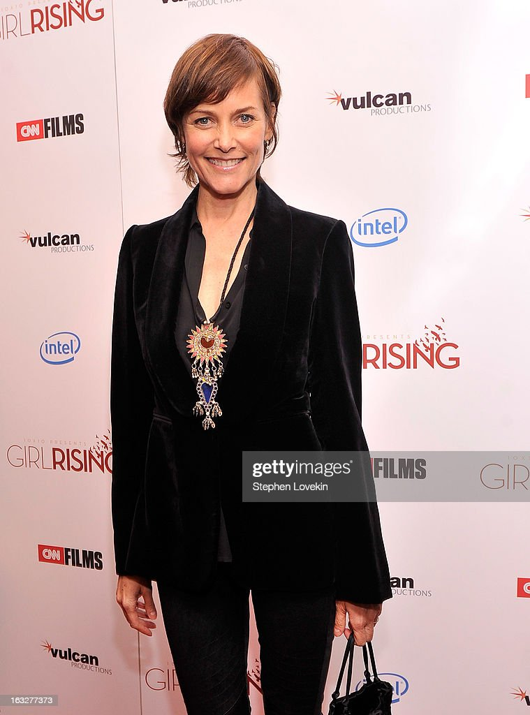 Actress Carey Lowell attends the 'Girl Rising' premiere at The Paris Theatre on March 6, 2013 in New York City.