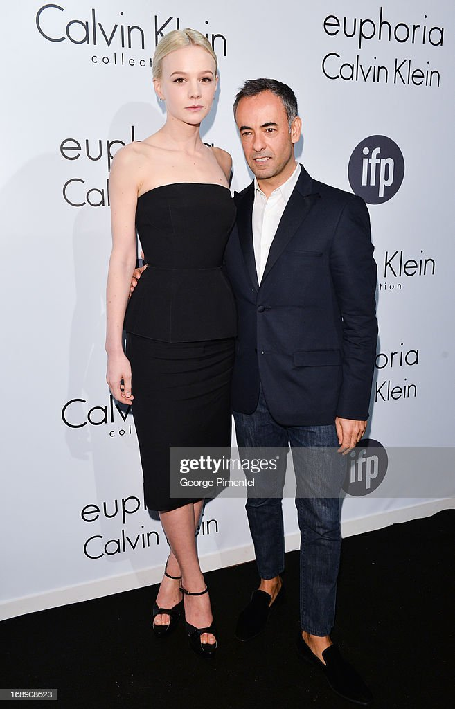 Actress Carey Mulligan and Francisco Costa, Women's Creative Director of Calvin Klein Collection, attend a party hosted by Calvin Klein and IFP to celebrate women in film at The 66th Annual Cannes Film Festival at L'Ecrin Plage on May 16, 2013 in Cannes, France.