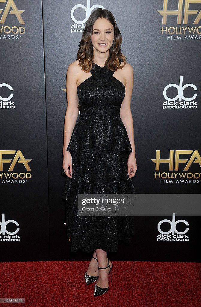 Actress Carey Mulligan arrives at the 19th Annual Hollywood Film Awards at The Beverly Hilton Hotel on November 1 2015 in Beverly Hills California