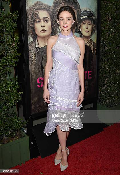 Actress Carey Mulligan arrives at the Los Angeles Premiere Of Focus Features' 'Suffragette' at Samuel Goldwyn Theater on October 20 2015 in Beverly...