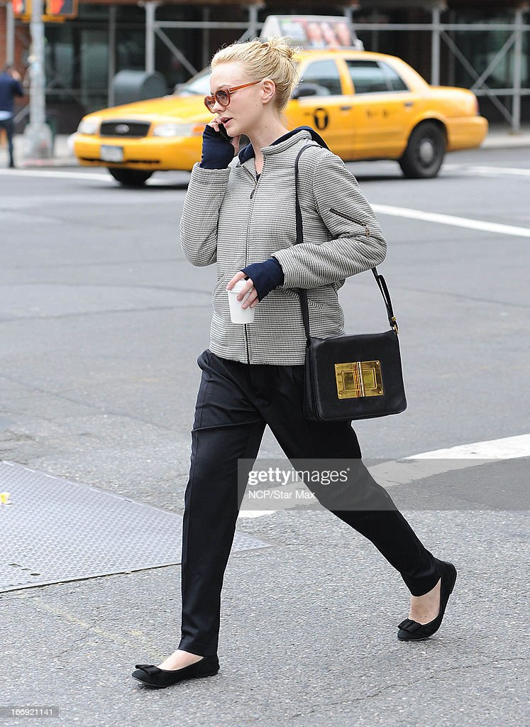 Actress Carey Mulligan as seen on April 18, 2013 in New York City.