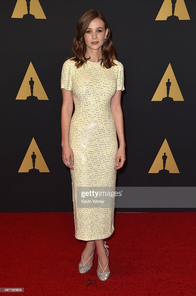 Actress <a gi-track='captionPersonalityLinkClicked' href=/galleries/search?phrase=Carey+Mulligan&family=editorial&specificpeople=2262681 ng-click='$event.stopPropagation()'>Carey Mulligan</a> attends the Academy of Motion Picture Arts and Sciences' 7th annual Governors Awards at The Ray Dolby Ballroom at Hollywood & Highland Center on November 14, 2015 in Hollywood, California.