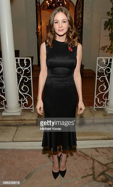 Actress Carey Mulligan attends the Focus Features reception for 'Suffragette' hosted by the British ConsulateGeneral at British Consul General's...