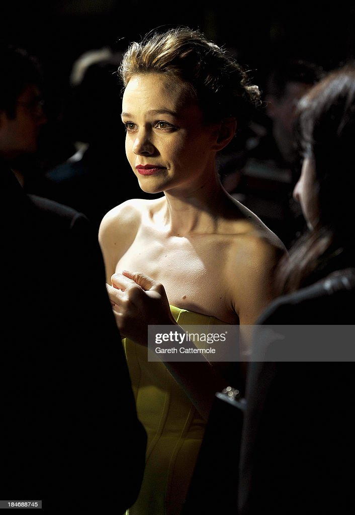 Actress <a gi-track='captionPersonalityLinkClicked' href=/galleries/search?phrase=Carey+Mulligan&family=editorial&specificpeople=2262681 ng-click='$event.stopPropagation()'>Carey Mulligan</a> attends the 'Inside Llewyn Davis' Centrepiece Gala Supported By The Mayor Of London screening during the 57th BFI London Film Festival at Odeon Leicester Square on October 15, 2013 in London, England.