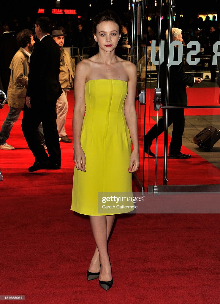 Actress Carey Mulligan attends the 'Inside Llewyn Davis' Centrepiece Gala Supported By The Mayor Of London screening during the 57th BFI London Film Festival at Odeon Leicester Square on October 15, 2013 in London, England.
