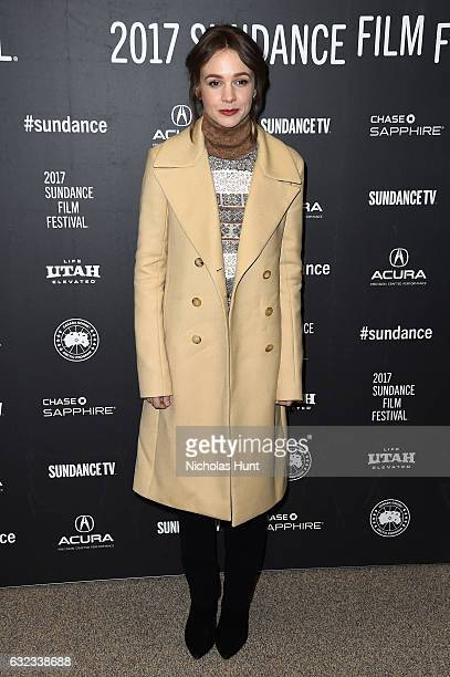 Actress Carey Mulligan attends the 'Mudbound' Premiere on day 3 of the 2017 Sundance Film Festival at Eccles Center Theatre on January 21 2017 in...