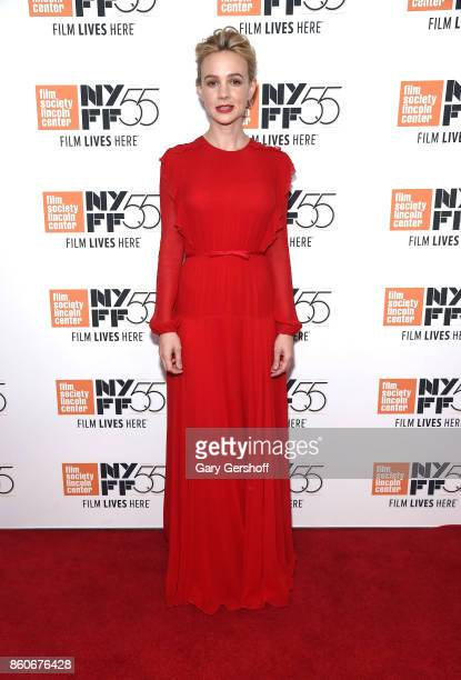 Actress Carey Mulligan attends the 'Mudbound' screening during the 55th New York Film Festival at Alice Tully Hall on October 12 2017 in New York City