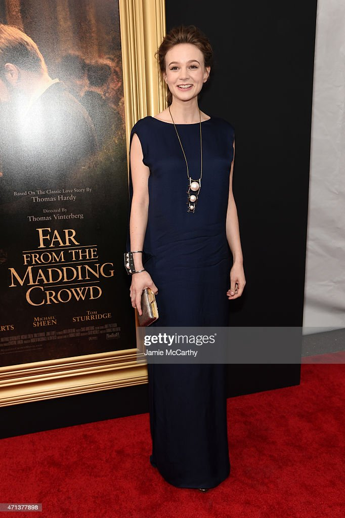 Actress <a gi-track='captionPersonalityLinkClicked' href=/galleries/search?phrase=Carey+Mulligan&family=editorial&specificpeople=2262681 ng-click='$event.stopPropagation()'>Carey Mulligan</a> attends the New York special screening of 'Far From The Madding Crowd' at The Paris Theatre on April 27, 2015 in New York City.
