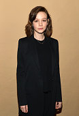 Actress Carey Mulligan attends the photo call for the Broadway production of 'Skylight' at the Golden Theatre on March 10 2015 in New York City