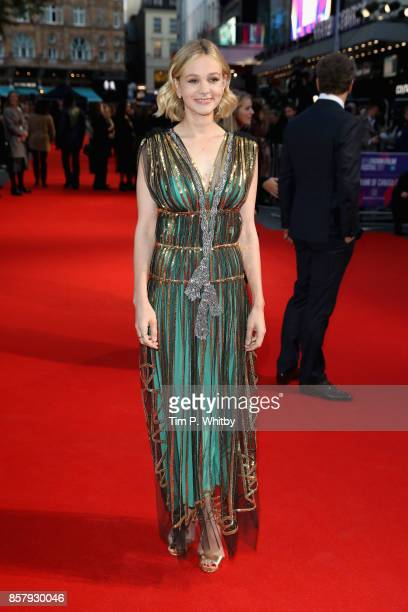 Actress Carey Mulligan attends the Royal Bank of Canada Gala European Premiere of 'Mudbound' during the 61st BFI London Film Festival on October 5...