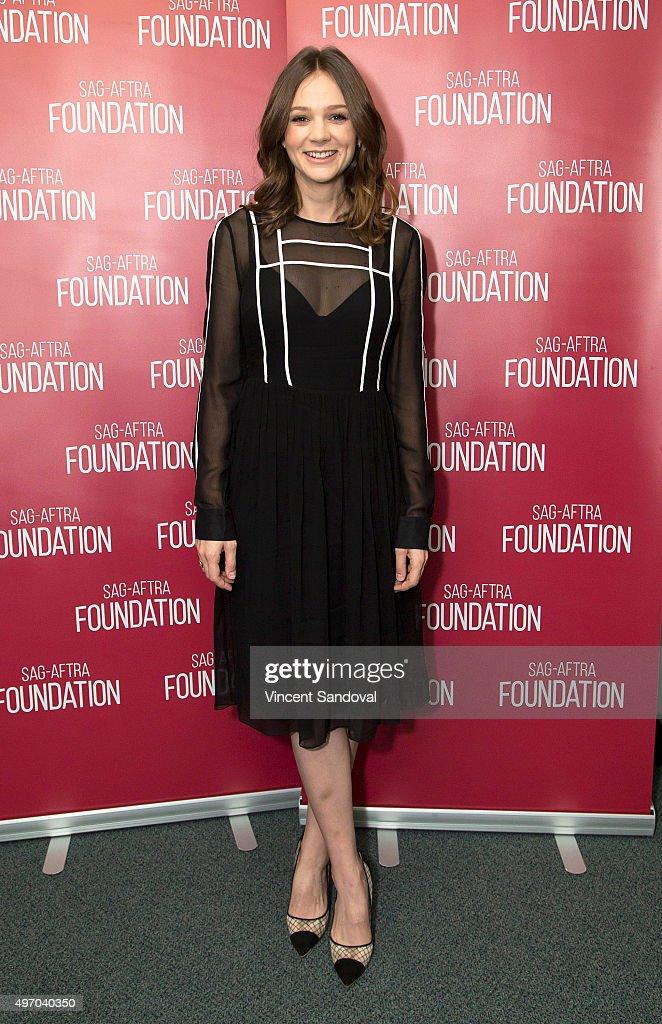 Actress Carey Mulligan attends the SAGAFTRA Foundation conversation with Carey Mulligan at SAGAFTRA on November 13 2015 in Los Angeles California